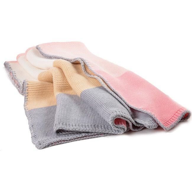 Colorblock Blanket, Pink Combo