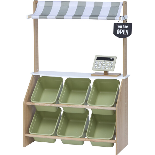 Little Helper Market Play Stand Play Kitchen , Olive Green