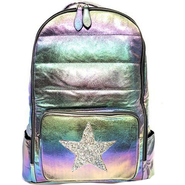 Iridescent Backpack, Purple Star - Backpacks - 1