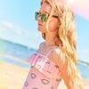 Isadora Ruffle One Piece, Pink Salt Rainbow - One Pieces - 4
