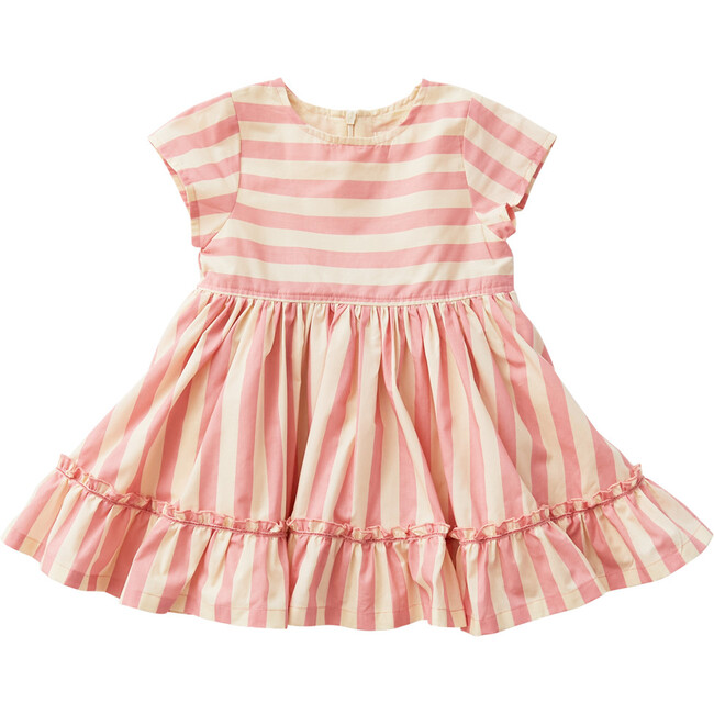 Niley Dress, Mauveglow & Angora Stripe