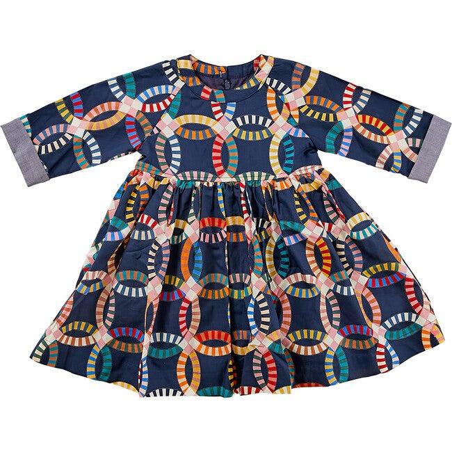 Olive Dress, Blues Quilt