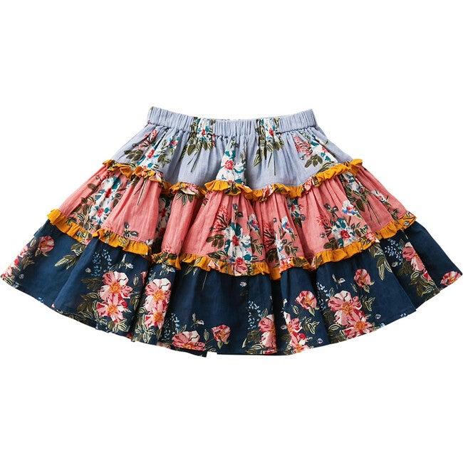 Allie Skirt, Mixed Franken Florals