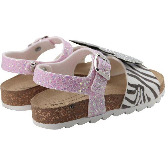 Zebra Minnie Sandals, Pink