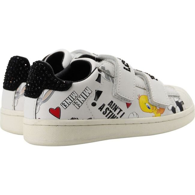 Tweety Velcro Sneakers, White