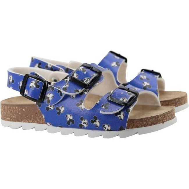 Mickey Print Sandals, Blue