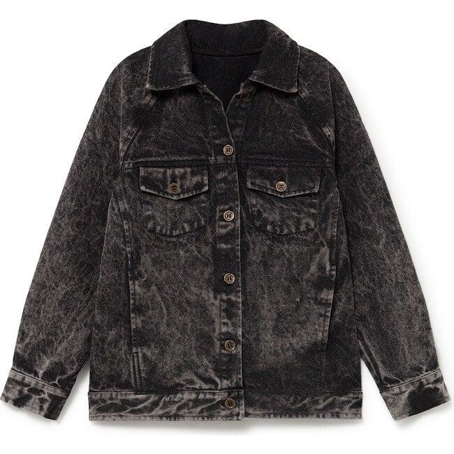 Stonewash Denim Jacket, Faded Black