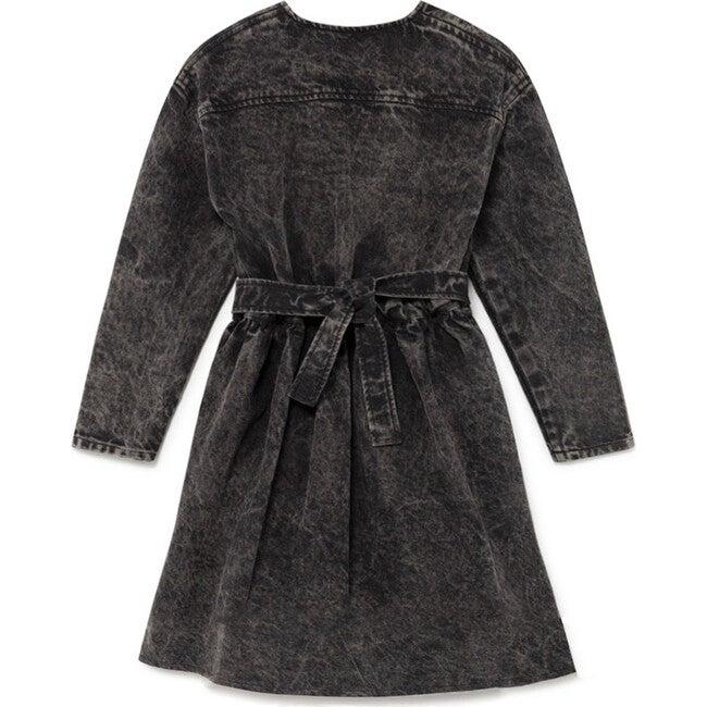 Stonewash Denim Dress, Faded Black