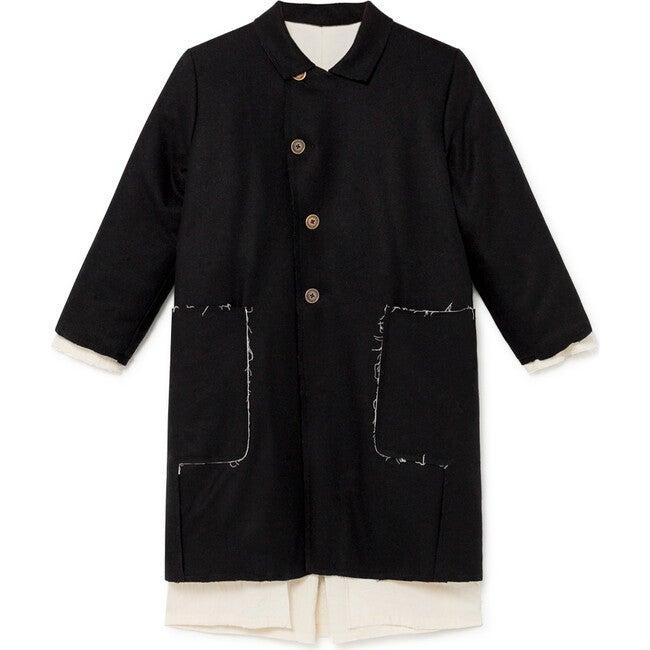 Blackboard Straight Coat, Black