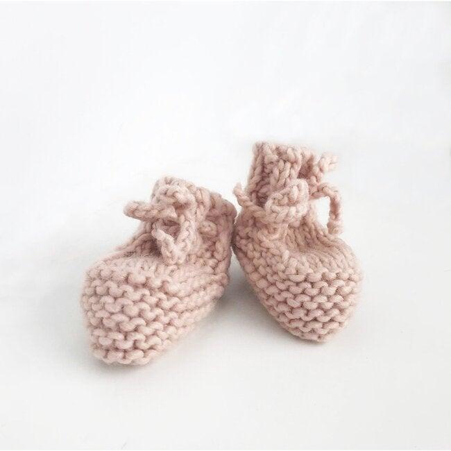 Classic Newborn Booties, Blush