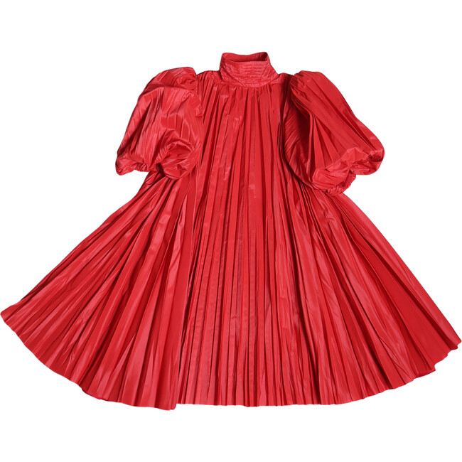 Harriet Pleated Frock, Big Red - Dresses - 1