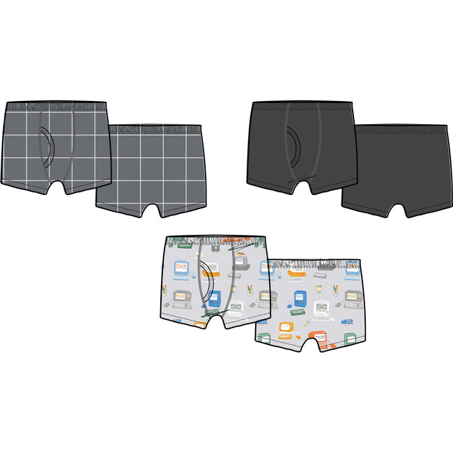 3 Pack Boxer Brief 80's