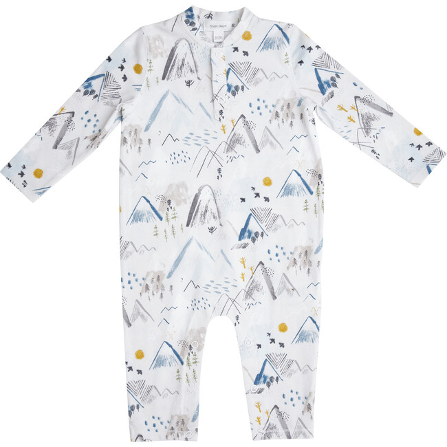 Mountain Romper with Pockets, White