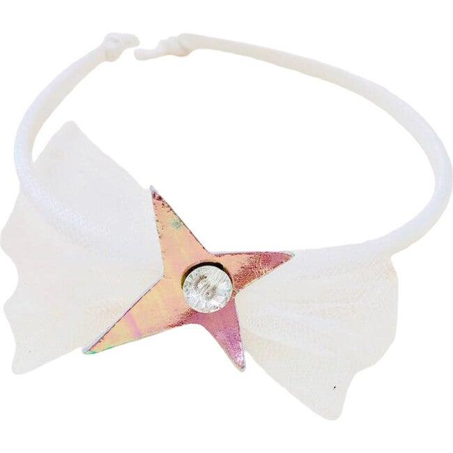 Amulet Crystal Headband, Silk Leather Charm