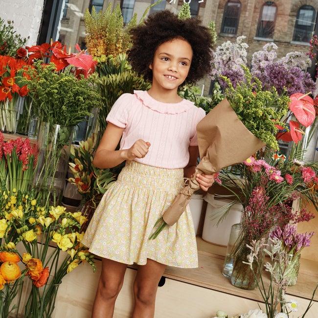 Viola Skirt, Cluster Floral