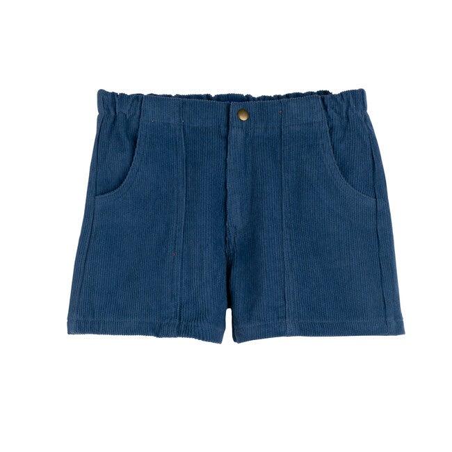 Retro Cord Short, New Blue