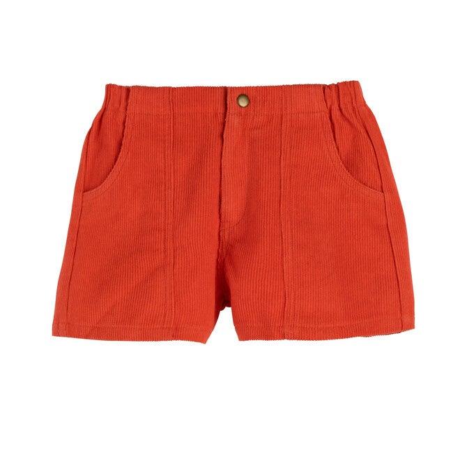Retro Cord Short, Coral