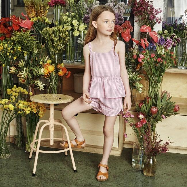 Catherine Short, Mini Lavender Gingham