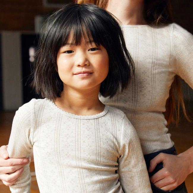 Miriam Pointelle Long Sleeve Shirt, Sage