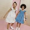 Daria Dress, Blue Flower Pots - Dresses - 5