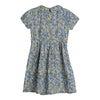 Emmalyn Short Sleeve Collared Dress, Blue Yellow Floral - Dresses - 2