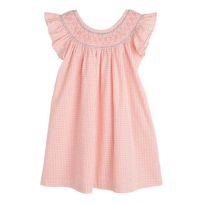 Farrah Dress, Pink Gingham - Dresses - 1