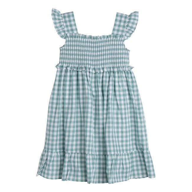 Daria Dress, Sage Gingham - Dresses - 1