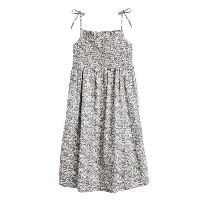 Rosalie Women's Smocked Dress, Blue Floral