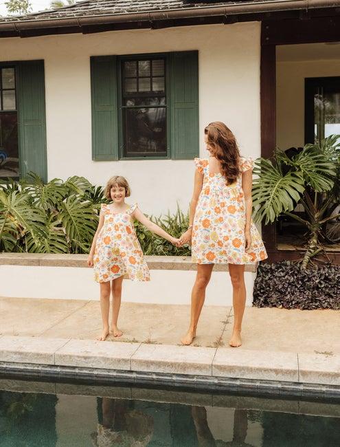 Tallulah Women's Dress, Retro Flower