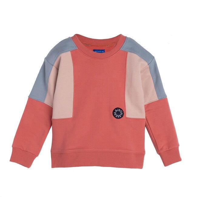 Tyler Colorblock Sweatshirt, Pink Multi