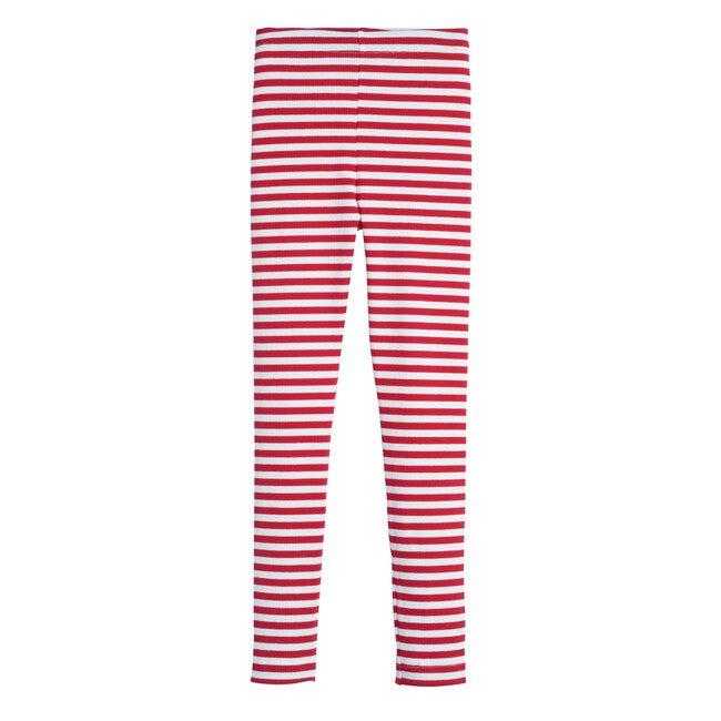 Reese Ribbed Legging, Red Stripe