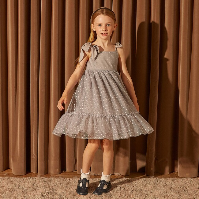 Anja Tulle Dress, Dusty Blue