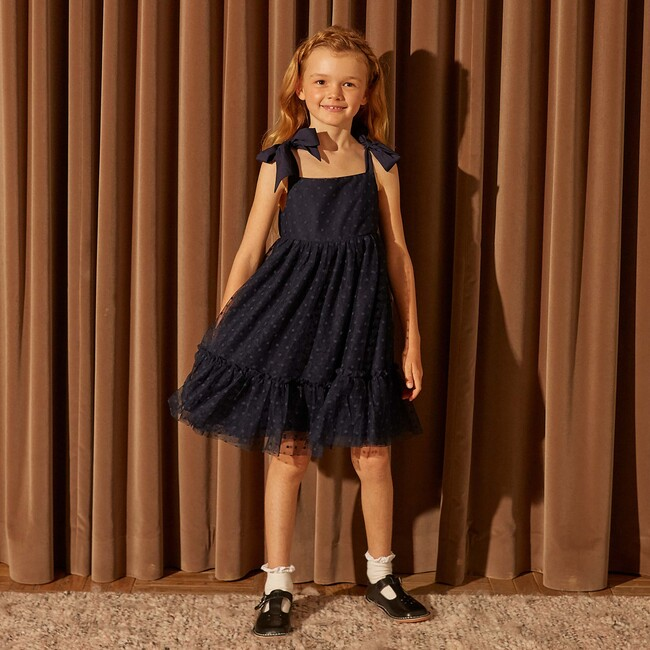 Anja Tulle Dress, Navy