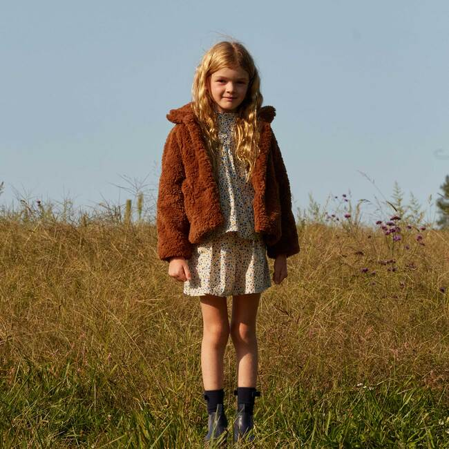 Phoebe Cropped Teddy Coat, Coco