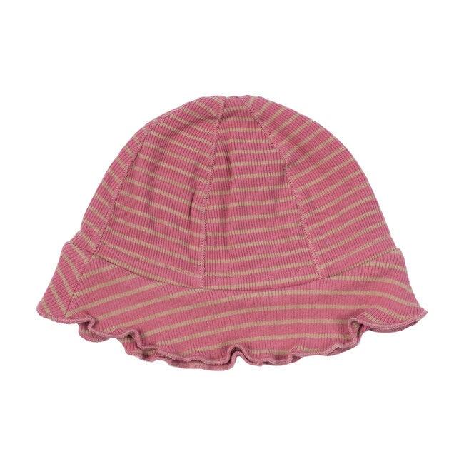 Novi Hat, Pink & Tan Stripe