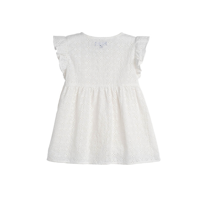 Lucy Ruffle Top, Embroidered Cotton Voile