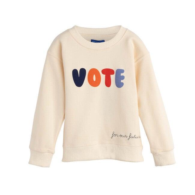 Vote Sweatshirt, Cream - Sweatshirts - 1