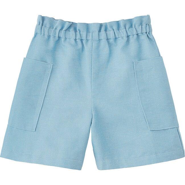 Paperbag Waist Shorts, Cendre Blue