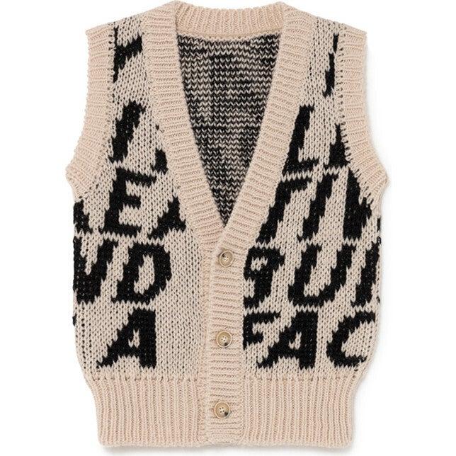 Motion Waistcoat Vest, Black & Cream