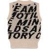 Motion Waistcoat Vest, Black & Cream - Vests - 2