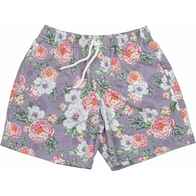 Boys Board Shorts, Peony Mauve