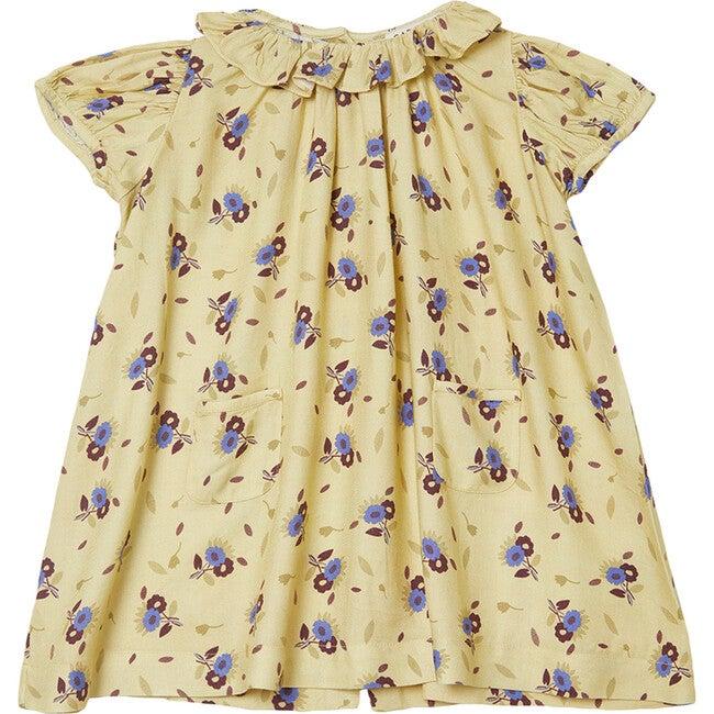 Natta Baby Dress, Yellow Thistle