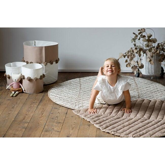 Luxe Diaper Free Reversible Playmat, Tan