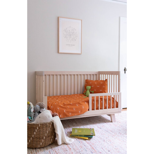 Organic Toddler Duvet Cover Set, Rust