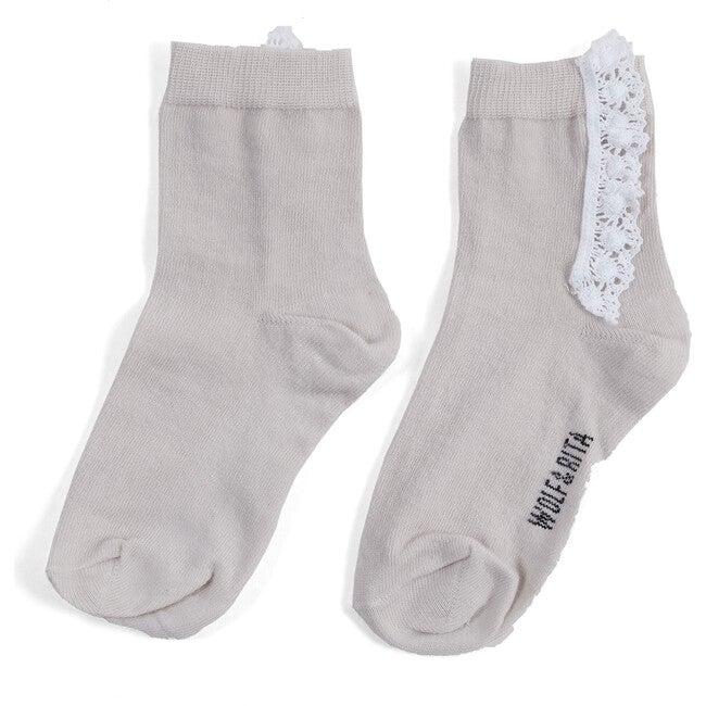 Lace Socks, Ecru