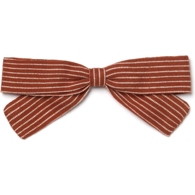 Small Bow, Amber Stripes