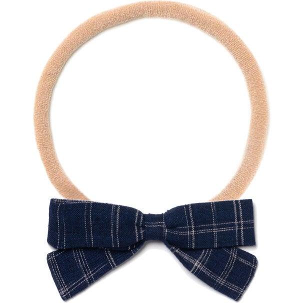Headband Bow, Midnight Blue Space Dye