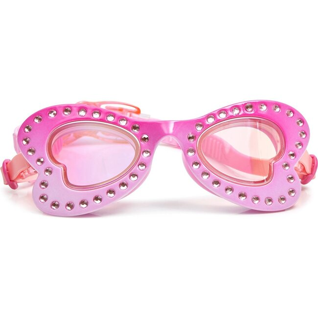 Pink Wings Flutter Fly Swim Goggles, Pink