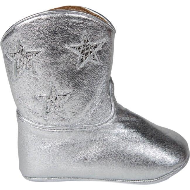 Baby Cowboy Boot, Silver Sparkle