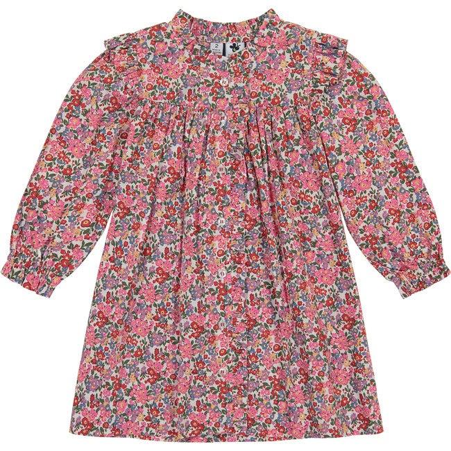 Quinn Ruffle Front Dress, Multi Floral
